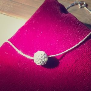 "Sterling Silver CZ Necklace Inspiranza Designs 18"""